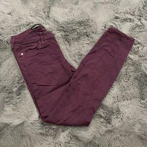 Express Stella Purple 5 Pocket Skinny Jean Legging